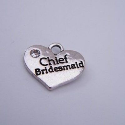 Chief Bridesmaid Wine Glass Charm - Hoop Style